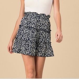 NEW| Only A Dream Blue Floral Mini Skirt